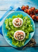 mozzarella stuffed with capers and tomatoe
