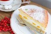Cream Cheese Peach Cake