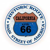 Historic Route 66 California Stamp