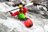 image of kayak  - White water Kayaking as extreme and fun sport  - JPG