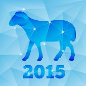New Year of the Goat or Sheep 2015, polygonal geometric pattern.