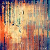 Grunge texture, distressed background. With yellow, orange, blue patterns