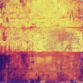Old grunge textured background. With yellow, pink, red, purple patterns