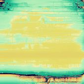 Grunge background with space for text or image. With yellow, green patterns