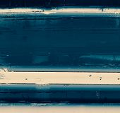 Abstract composition on textured, vintage background with grunge stains. With blue, gray patterns