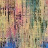 Vintage texture. With pink, brown, green, blue patterns