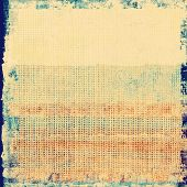 Vintage Template. With yellow, orange, blue patterns
