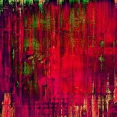 Designed grunge texture or background. With red, purple, violet, green patterns