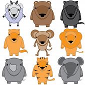 set of baby animals cartoon