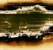 Grunge texture, distressed background. With yellow, brown, green, black patterns