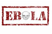 Ebola Red Stamp Text On White