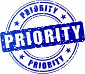Priority Blue Stamp Icon
