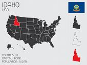 Set Of Infographic Elements For The State Of Idaho