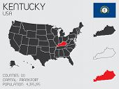 Set Of Infographic Elements For The State Of Kentucky