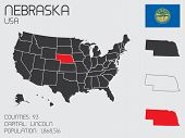Set Of Infographic Elements For The State Of Nebraska