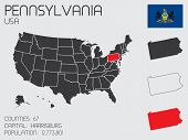 Set Of Infographic Elements For The State Of Pennsylvania