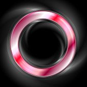 Bright glow red web circle element. Logo vector background