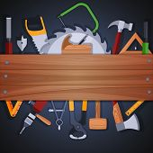 Carpentry tools background