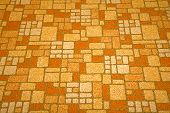 stock photo of linoleum  - Detailed image of a linoleum tile background from the 1970s - JPG