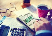 Businessman Writing Growth Strategy Concept