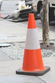 Safety Cone on footpath