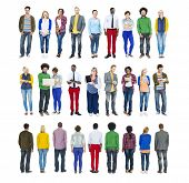 Multiethnic People in a Row