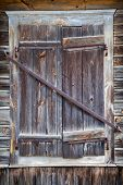 Rustic Window Of Old Wooden House