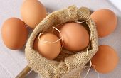 eggs in burlap sack