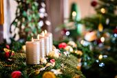 Christmas home decoration for Advent