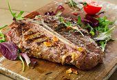 pic of porterhouse steak  - Grilled BBQ T - JPG