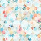 picture of refraction  - cell diamond seamless pattern  - JPG