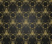pic of damask  - Floral  oriental pattern with damask - JPG