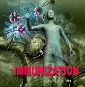 pic of immune  - Human Immune System attack the virus made in 3d software - JPG