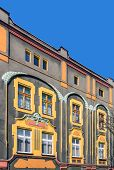 stock photo of gory  - Facade of an Art Noveau tenement in Tarnowskie Gory - JPG