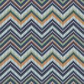 picture of knitwear  - Seamless geometric spokes knitted pattern - JPG