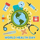 image of pain-tree  - World health day concept with earth globe - JPG
