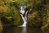 picture of furnace  - A serene fresh waterfall adjacent to Dyfi Furnace in Wales - JPG