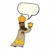 picture of wise  - one of the three wise men with speech bubble - JPG