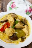picture of curry chicken  - green curry with chicken  - JPG