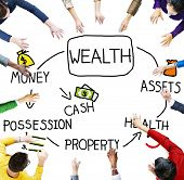 picture of possess  - Wealth Money Possession Investment Growth Concept - JPG