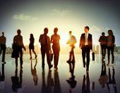 stock photo of pedestrians  - Business People Commuter Corporate Cityscape Pedestrian Concept - JPG