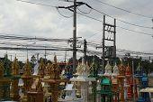 pic of household  - variety shrine of the household god in Thailand - JPG