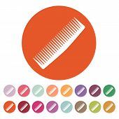 picture of barbershop  - The comb icon - JPG