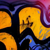 picture of fragmentation  - fragments of pictures of graffiti in the urban environment - JPG