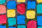 image of cobblestone  - Colorful Pavement  - JPG