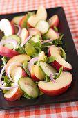 pic of rocket salad  - peach salad with rocket - JPG