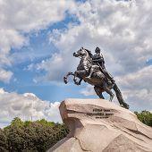 foto of great horse  - Bronze Horseman  - JPG