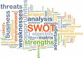 foto of swot analysis  - Background concept wordcloud illustration of strengths weakness opportunities threat SWOT - JPG