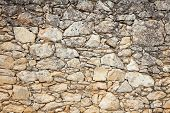 picture of old stone fence  - Old weathered stone wall background - JPG