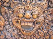 foto of immoral  - Stone sculpture on entrance door of Pura Padmasana Puja Mandala temple - JPG
